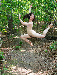 Nude girls in stupid funny positions outdoors