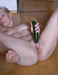 Stupid girls eating cucumbers the wrong way